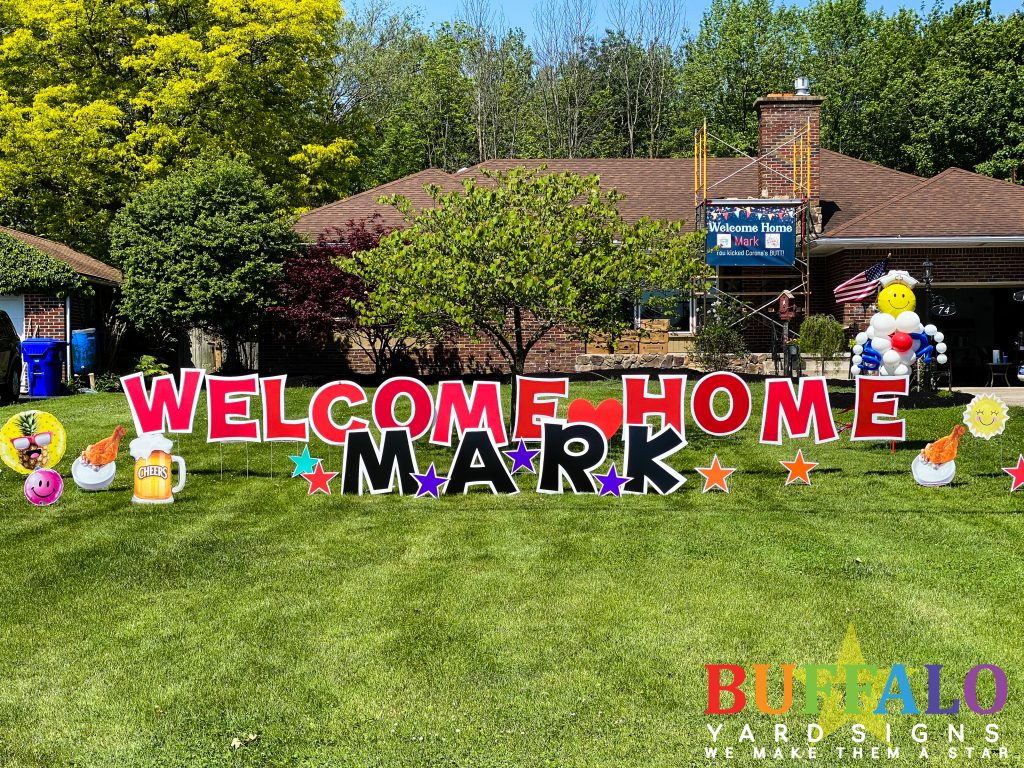 Welcome Home Lawn Sign Buffalo New York