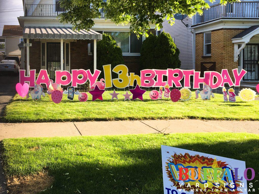 Birthday Lawn Sign Buffalo New York
